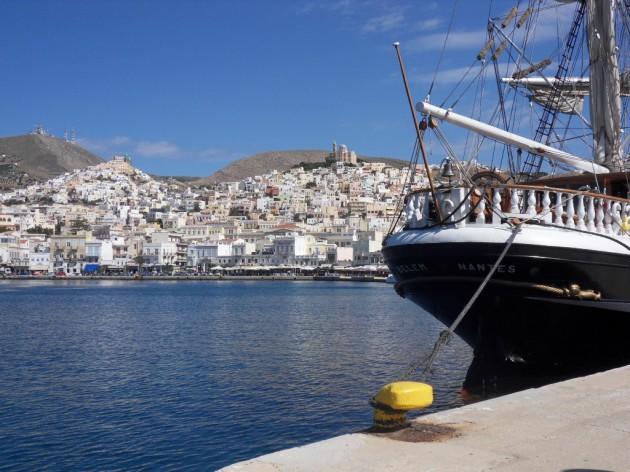 Escale du Belem à Syros
