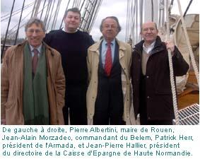 Pierre Albertini, Jean-Alain Morzadeo, Patrick Herr, Jean-Pierre Hallier