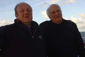 Le Cdt Michel Pery et Jean-François Deniau